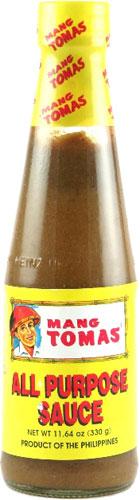 mang tomas sauce bottle